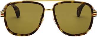 Gucci Aviator Shaped Sunglasses