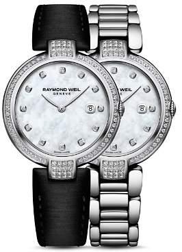 Raymond Weil Shine Diamond Bezel Watch with Interchangeable Straps, 32mm