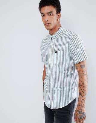 Lee Button Down Short Sleeve Stripe Shirt