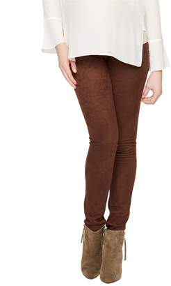A Pea in the Pod Secret Fit Belly Faux Suede Maternity Legging