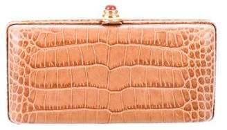 Oscar de la Renta Crocodile Box Clutch