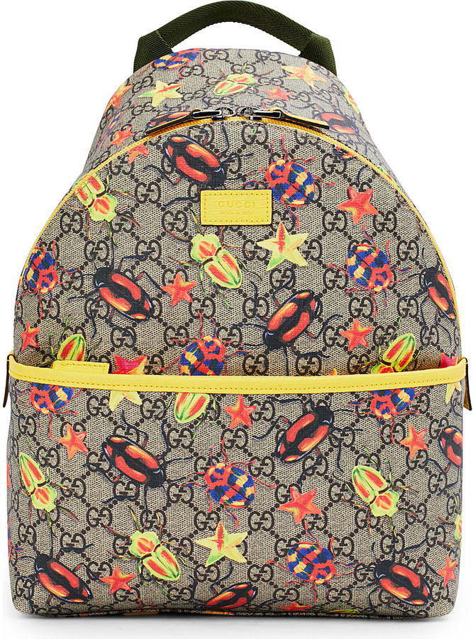 Gucci Gucci Bug supreme canvas backpack