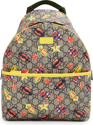 Gucci Bug supreme canvas backpack $550 thestylecure.com