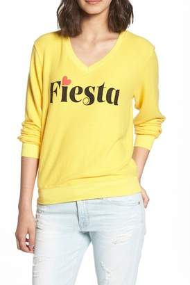 Wildfox Couture Fiesta V-Neck Baggy Beach Pullover