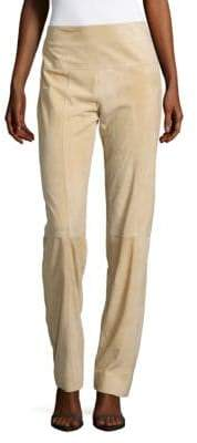 Carolina Herrera Slim-Fit Suede Pants