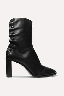 The Row Tea Time Leather Ankle Boots - Black