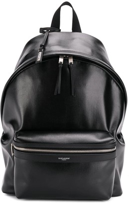 Saint Laurent City shiny backpack