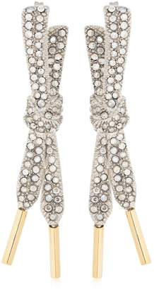 Schield Laces Earrings With Swarovski Crystal