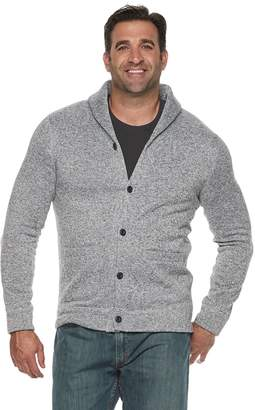 Sonoma Goods For Life Big & Tall SONOMA Goods for Life Supersoft Sweater Fleece Shawl-Collar Cardigan