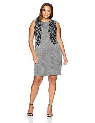 Calvin Klein Women's Plus Size Sheath with Leaf Aplique