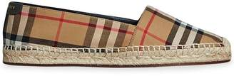 Burberry vintage check and leather espadrilles