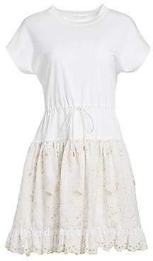 See by Chloe Women's Butterfly Sleeve Cutout Dress