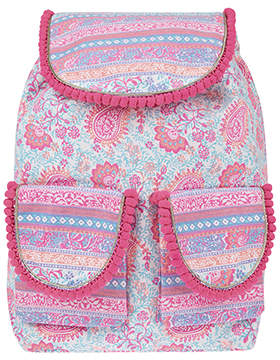Accessorize Bazaar Print Canvas Backpack