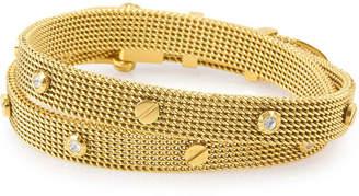 Henri Bendel Rivet Mesh Wrap Bracelet