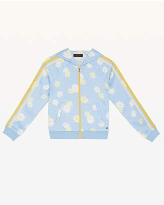 Juicy Couture Sketched Daisies Satin Hoodie for Girls