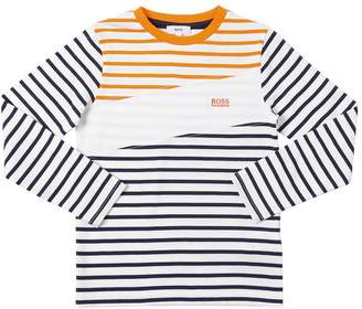 HUGO BOSS Striped Cotton Jersey T-Shirt