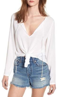 O'Neill Houston Woven Knot Front Top