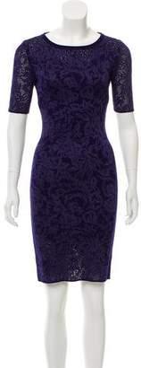 St. John Wool Knee-Length Dress