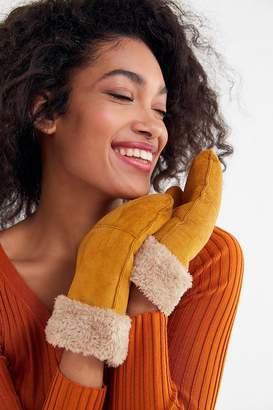 Urban Outfitters Faux Fur Trim Mitten