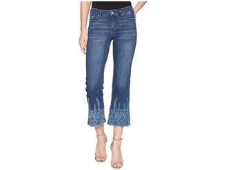 Liverpool LVPL by Coco Cropped Flare with Embroidery in Vintage Super Comfort Stretch Denim in Willow Wash