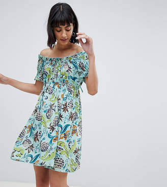 Anna Sui Exclusive Babydoll Dress in Pineapple Print