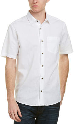 Ike Behar Ike By Linen-Blend Woven Shirt