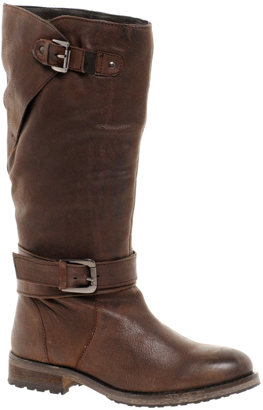 Ravel Hustle Leather Knee High Biker Boots