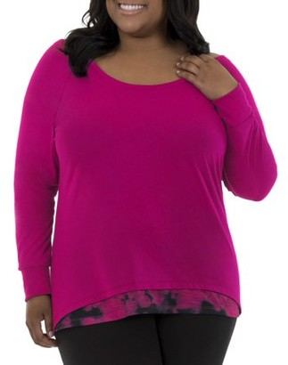 Fruit of the Loom Fit for Me by Women's Plus-Size Active Ballet 2fer Top