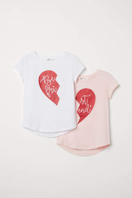 H&M 2-pack Best Friends Tops - White