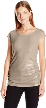 Calvin Klein Women's S/L Metallic Top