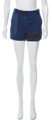 Acne Studios Chambray Mini Shorts Blue Chambray Mini Shorts