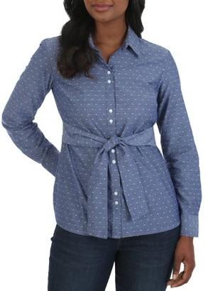 Lee Riders Women's Long Sleeve Tie Waist Shirt