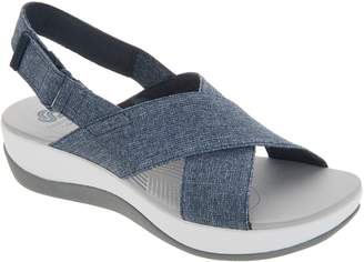 95fa49d8a15 at QVC · Clarks CLOUDSTEPPERS by Adjustable Sandals - Arla Kaydin