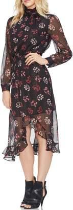 Vince Camuto Regal Stamp Floral Maxi Dress