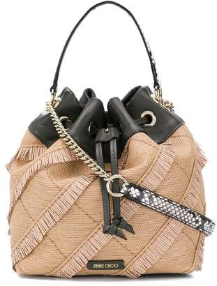Jimmy Choo raffia bucket bag
