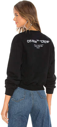 Off-White Quotes Crop Crewneck Sweatshirt