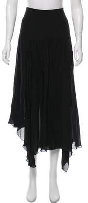 Chloé Two Layer Asymmetrical Maxi Skirt