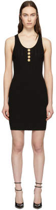 Balmain Black Knit Button Dress