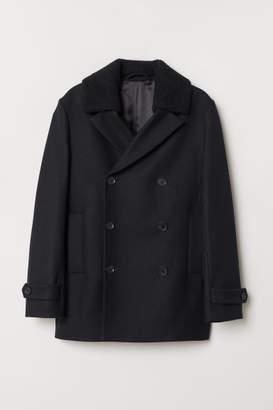 H&M Wool-blend Pea Coat - Black