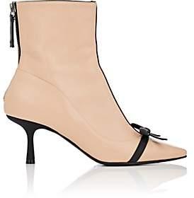 Fabrizio Viti Women's Mademoiselle Deneuve Leather Ankle Boots-Beige, Tan