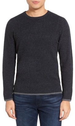 Men's Velvet By Graham & Spencer Jagger01 Tipped Cashmere Sweater $345 thestylecure.com