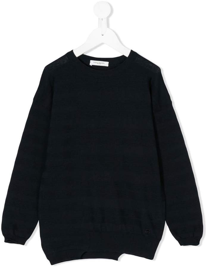 Paolo Pecora Kids asymmetric knitted sweater
