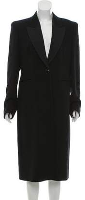 Max Mara Long Peak-Lapel Coat
