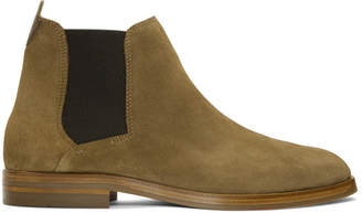 H By Hudson Brown Suede Tonti Chelsea Boots