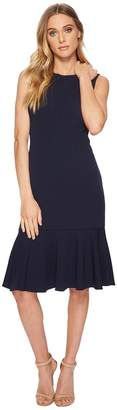 Adrianna Papell Knit Crepe Flounce Dress Women's Dress