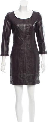 Alice by Temperley Leather Mini Dress $195 thestylecure.com