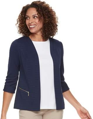 Dana Buchman Women's Textured Zipper-Pocket Jacket