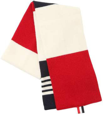 Thom Browne Cashmere Scarf With Stripes