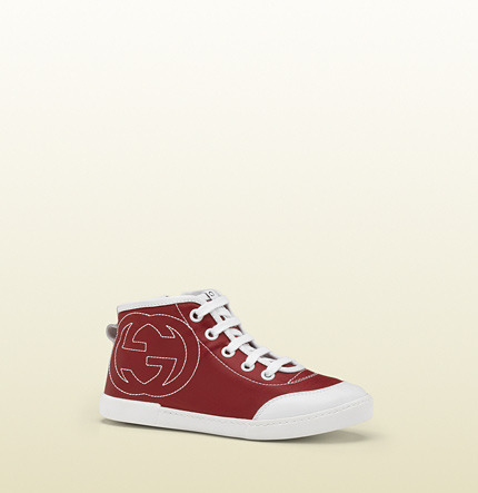 Gucci high-top sneaker with interlocking G stitching