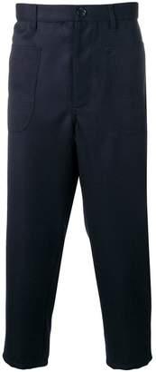 Comme des Garcons drop-crotch cropped trousers